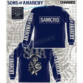 Sons of Anarchy SAMCRO Cracked Long Sleeve T-Shirt - 28-435-113NV-XXL