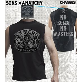 Sons of Anarchy No Rules Muscle T-Shirt - 28-521-142BK-XXL