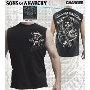 Sons of Anarchy SAMCRO Shield Muscle T-Shirt - 28-521-144BK-XXL