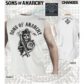 Sons of Anarchy Classic Reaper Crew Muscle T-Shirt - 28-521-172WH-XXL
