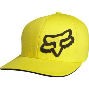Fox Youth Yellow Signature Flex-Fit Hat - 68138-005-OS