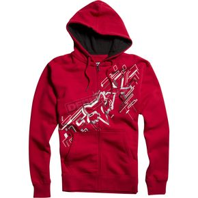 Fox Red Schematica Zip Hoody - 02224-003-L