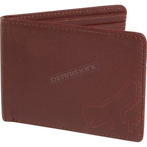 Fox Brown Leather The Verm Tri-Fold Wallet - 01983-081-NS