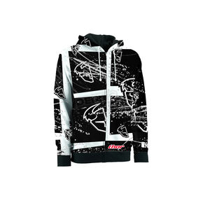 Thor Black Splatter Zip-Up Hoody - 30501856