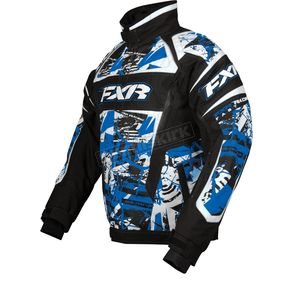 FXR Racing Blue Sabotage Helix Jacket - 13115