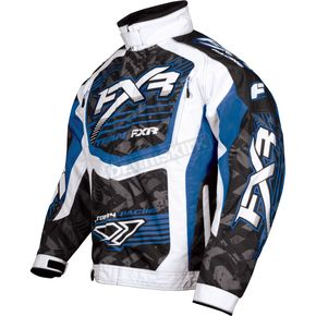 FXR Racing Blue/White Strike Cold Cross Jacket - 13125