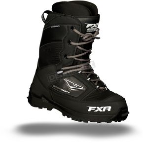 FXR Racing Black Backshift Boots - 13501
