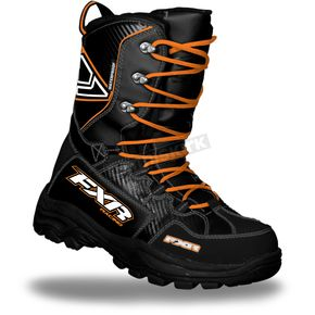 FXR Racing Black/Orange X-Cross Boots - 13515