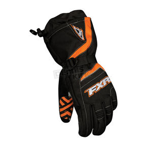 FXR Racing Black/Orange Backshift Gloves - 13605