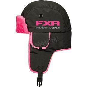 FXR Racing Womens Black/Fuchsia Aviator Hat - 13715