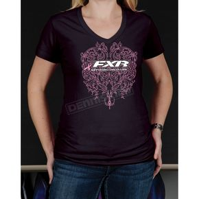 FXR Racing Womens Pink Ribbon T-Shirt - 13877