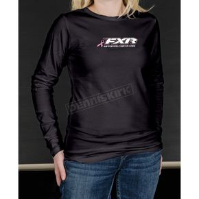 FXR Racing Womens Pink Ribbon Long Sleeve T-Shirt - 1387