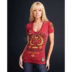 Affliction Womens Dead Spade T-Shirt - AW4520-L