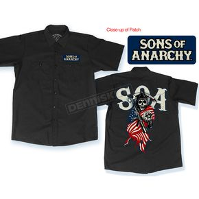 Sons of Anarchy Americana Work Shirt - 28-800-189-L