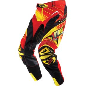 O'Neal Red/Yellow Hardwear Racewear Pants - 0114