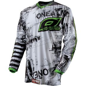 O'Neal Youth Black/Green Toxic Element Jersey - 0011