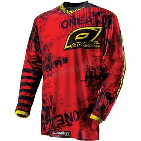 O'Neal Youth Red/Yellow Toxic Element Jersey - 0011