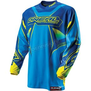 O'Neal Youth Blue/Yellow Element Racewear Jersey - 0011