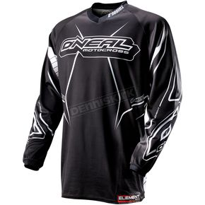 O'Neal Black/White Element Racewear Jersey - 0010