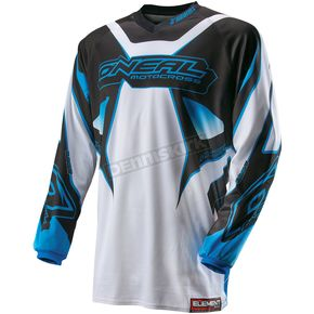 O'Neal White/Blue Element Racewear Jersey - 0010