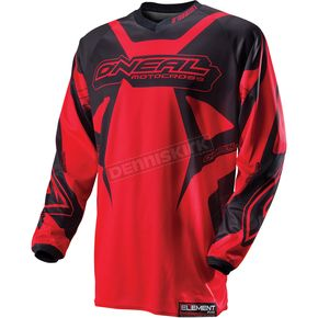 O'Neal Red/Black Element Racewear Jersey - 0010