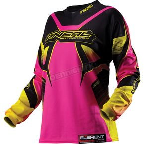 O'Neal Womens Black/Pink Element Racewear Jersey - 0010