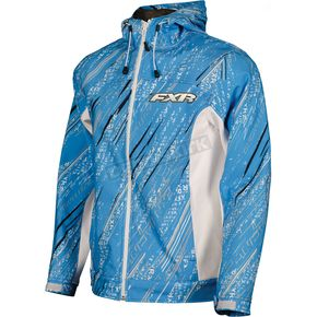 FXR Racing Womens Blue/Gray Storm Swift Tri-Laminate Hoody - 2922