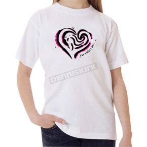 FXR Racing Youth White Heart T-Shirt - 2940