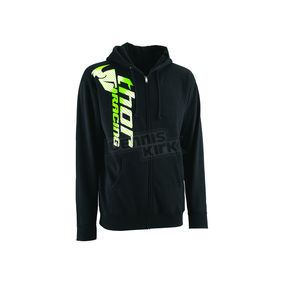 Thor Black Racer Zip-Up Hoody - 30501888