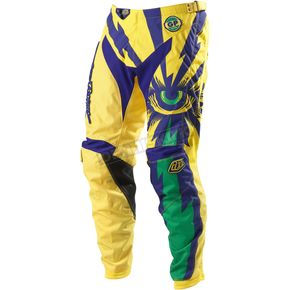 Troy Lee Designs Yellow/Purple Grand Prix Cyclops Pants - 0543-1528