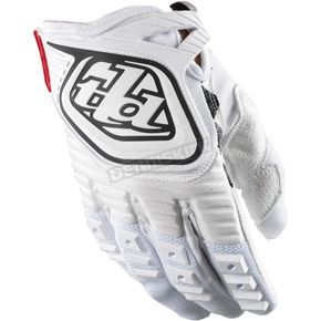 Troy Lee Designs Youth White GP Gloves - 0653-0106