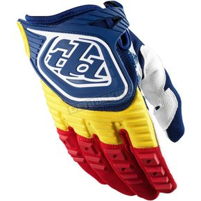 Troy Lee Designs Youth Navy/Red GP Gloves - 0653-1306