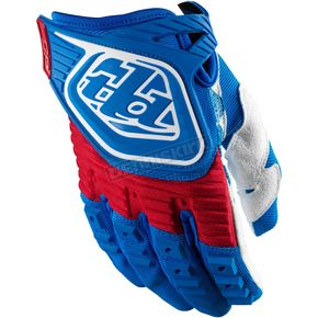 Troy Lee Designs Youth Blue/Red GP Gloves - 0653-2306
