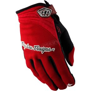 Troy Lee Designs Red XC Gloves - 0663-0410
