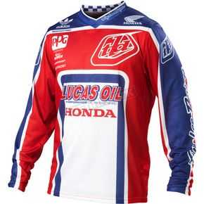 Troy Lee Designs Red/White GP Air Team Jersey - 0723-1409