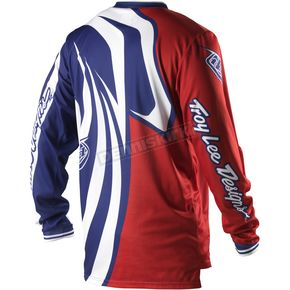 Troy Lee Designs Red Grand Prix Predator Jersey - 0743-2409