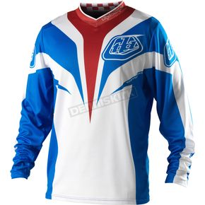 Troy Lee Designs Youth Blue Grand Prix Mirage Jersey - 0753-0305