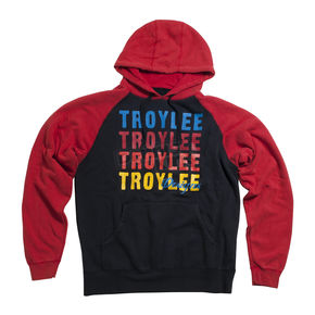 Troy Lee Designs Red Wave Fleece Hoody - 3482-0410