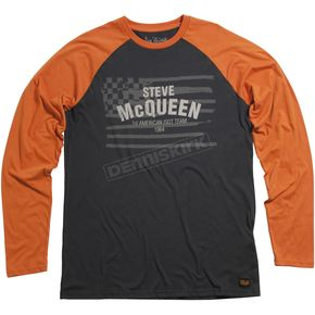 Troy Lee Designs Black/Orange Americana Long Sleeve T-Shirt - 2762-0210
