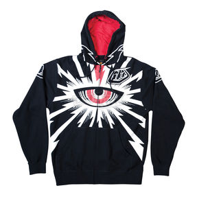 Troy Lee Designs Black Cyclops Zip-Up Hoody - 3622-0210