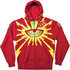Troy Lee Designs Red Cyclops Zip-Up Hoody - 3622-0410