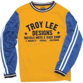 Troy Lee Designs Yellow/Blue Super Retro Jersey - 2781-0510