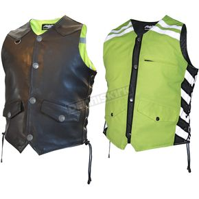 Missing Link Mens Black/Green G2 D.O.C. Reversible Safety Vest - G2RVMG3