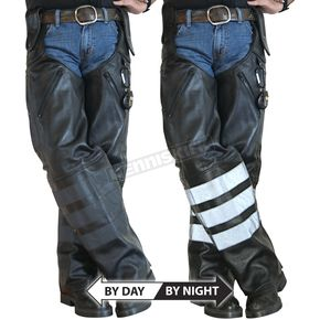 Missing Link Black Ops Leather Hook Chaps - BOHCL3