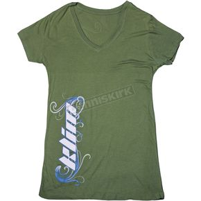 Klim Womens Green Kute T V-Neck T-Shirt (Non-Current) - 5048-140-300