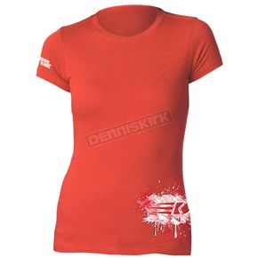 Dennis Kirk Inc. Womens Red Powderpuff T-Shirt - PPUFF T