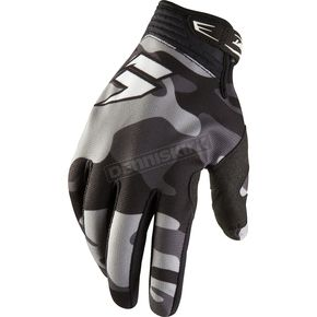 Shift Black Camo Recon Gloves - 03101-247-L