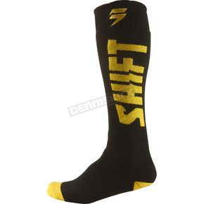 Shift Youth Black/Yellow Moto Socks - 03109