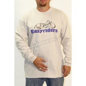 Easyriders Roadware Natural Bike Logo Long Sleeve T-Shirt - 8626XXL