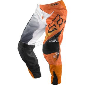 Fox White/Orange 360 KTM Pants - 04278